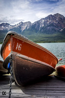 Row Boats by the lake | Rocky Mountains